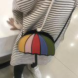 Kids Messenger Bag Umbrella Design in Rainbow Colored