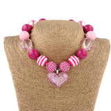 Girl Pure Handmade Love Pendant Pink Necklace Bracelet