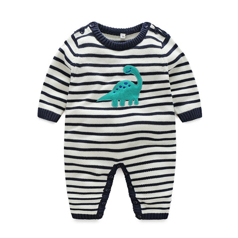 Boy Romper Striped Knit for Autumn