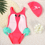 Black Swan Flamingo Parrot Baby One-Piece Swimsuit