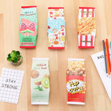 Creative Fruit Snacks Pencil Stationery Cases for Kids Pack of 5