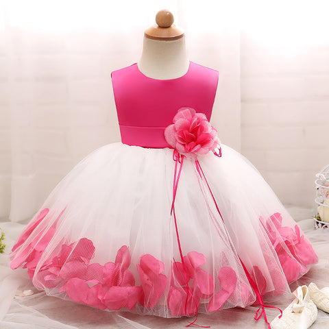 Girl Petal and Flowers Princess Dress