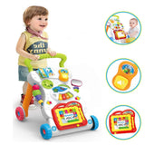 Baby Multifunctional Cartoon Trolley Walker With Music Sound
