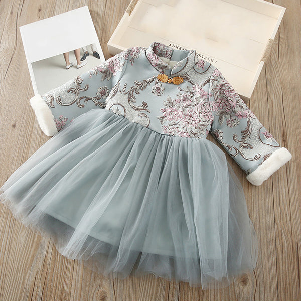 Children Embroidery Tang Skirt