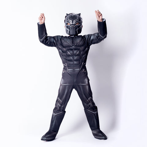 Boy Black Panther Cosplay Costume