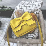 Baby Girl Cute Pu Leather Bow Small Shoulder Bag