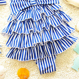Baby Conjoined Cake Layer Cross Straps Swimwear