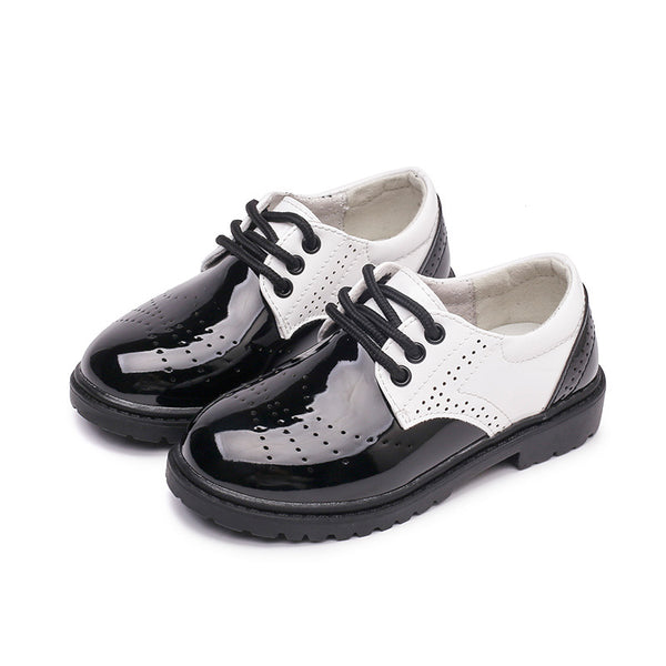 Boy Color Matching Leather Shoes