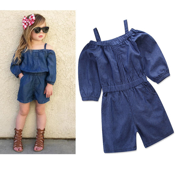 Girls Short Sleeve Jumpsuit