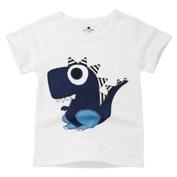 Boy Print Cartoon Casual Cotton T Shirt