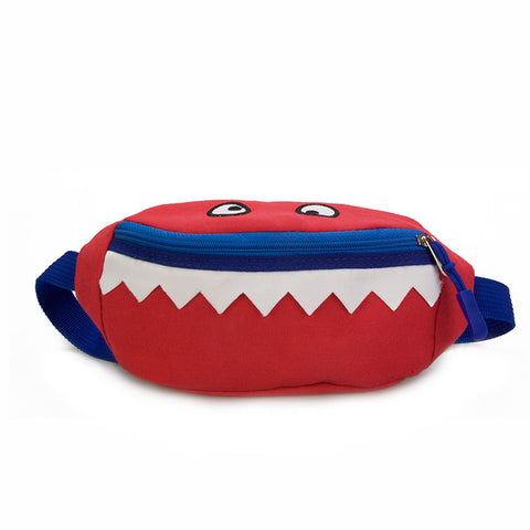 Kids Small Monster Cartoon Shark Waist Shoulder Bag