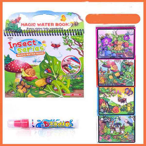 Kids Water Drawing Magic Coloring Board Book