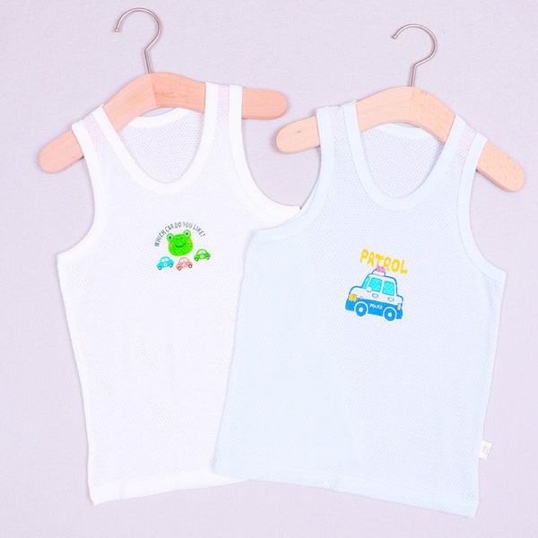 Boy Vest Summer Mesh Cotton