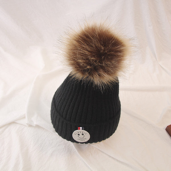 Children Warm Knit Cartoon Wool Cap