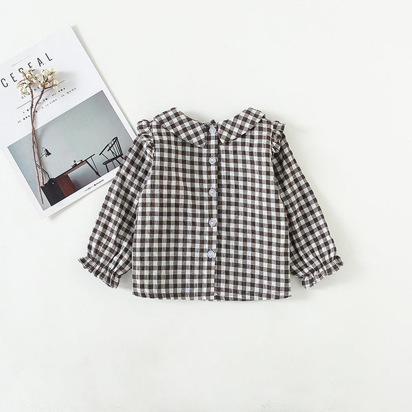 Girl Gray Plaid Shirt