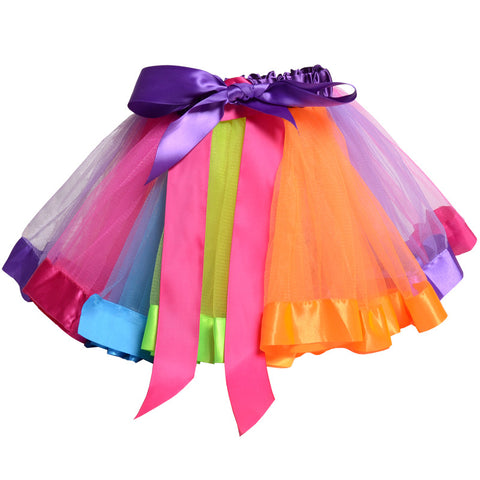Children Mesh Colorful Bubble Skirts