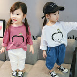 Girl Casual Cartoon Cotton Shirt