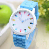 Children's Silicone Analog Wrist Watch