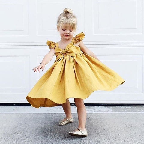 Girl Bow Sleeveless Dress