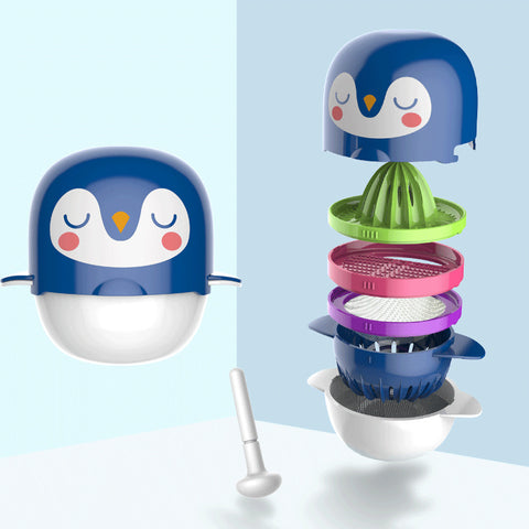 Cartoon Print Baby Food Grinder
