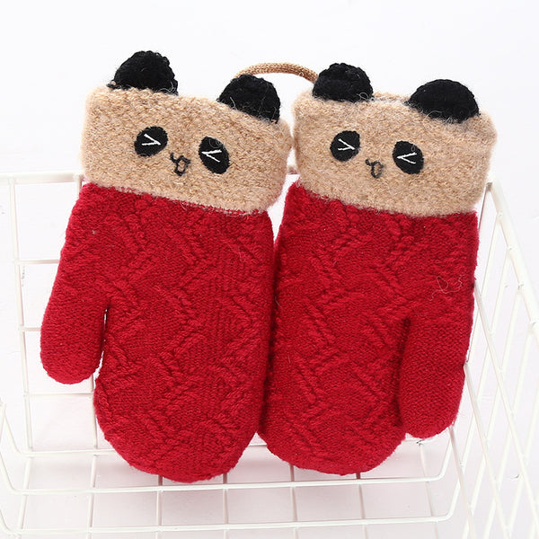 Winter Cute Warm Thickening Velvet Gloves