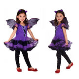 Children Halloween Costume Cosplay Witch Bat