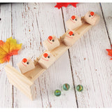 Children's Wooden Marble Blocks Running Track Game
