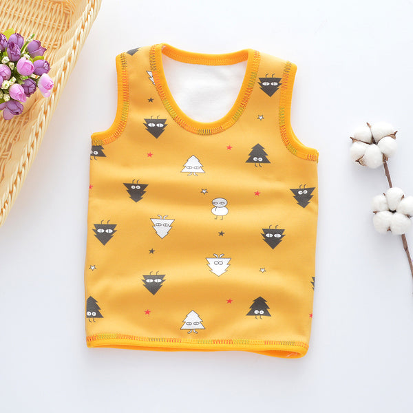 Children Sleeveless Velvet Underwear