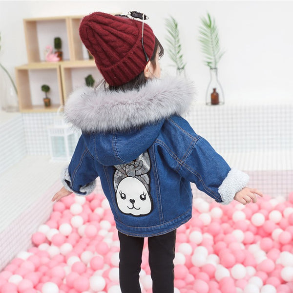 Children Clothing Cowboy Lamb Cotton Hooded Jacket