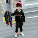 Boy Black Track Pants Three Piece
