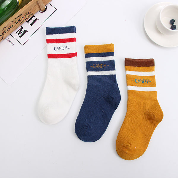 Boy Striped Cotton Socks