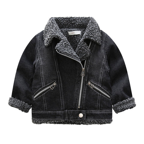 Boy Velvet Thick Lamb Coat