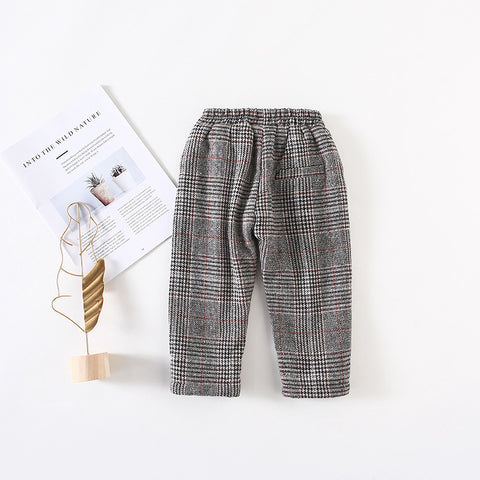 Girl Plaid Casual Pants