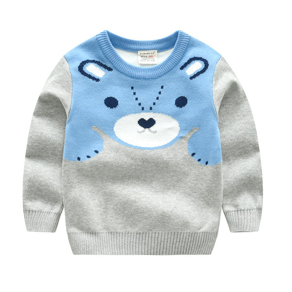 Boy Cartoon Thick Warm Sweater