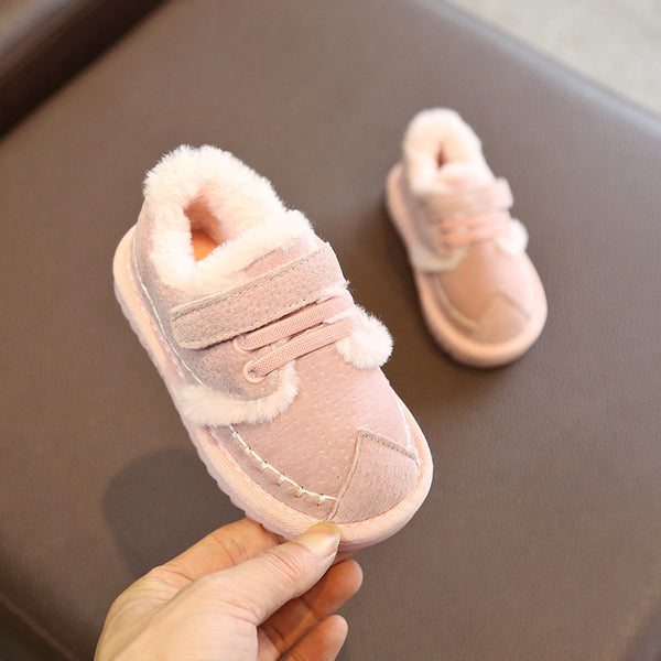 Girls Thick Warm Cotton Shoes