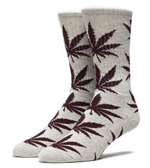 Huf Plantlife Crew Socken grey heather mahagony