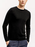 Superfine Cashmere Crewneck Sweater, Black
