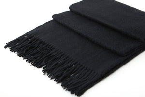 Large Cashmere Scarf, Black