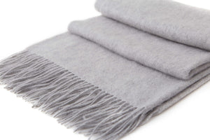 Large Cashmere Scarf, Grey