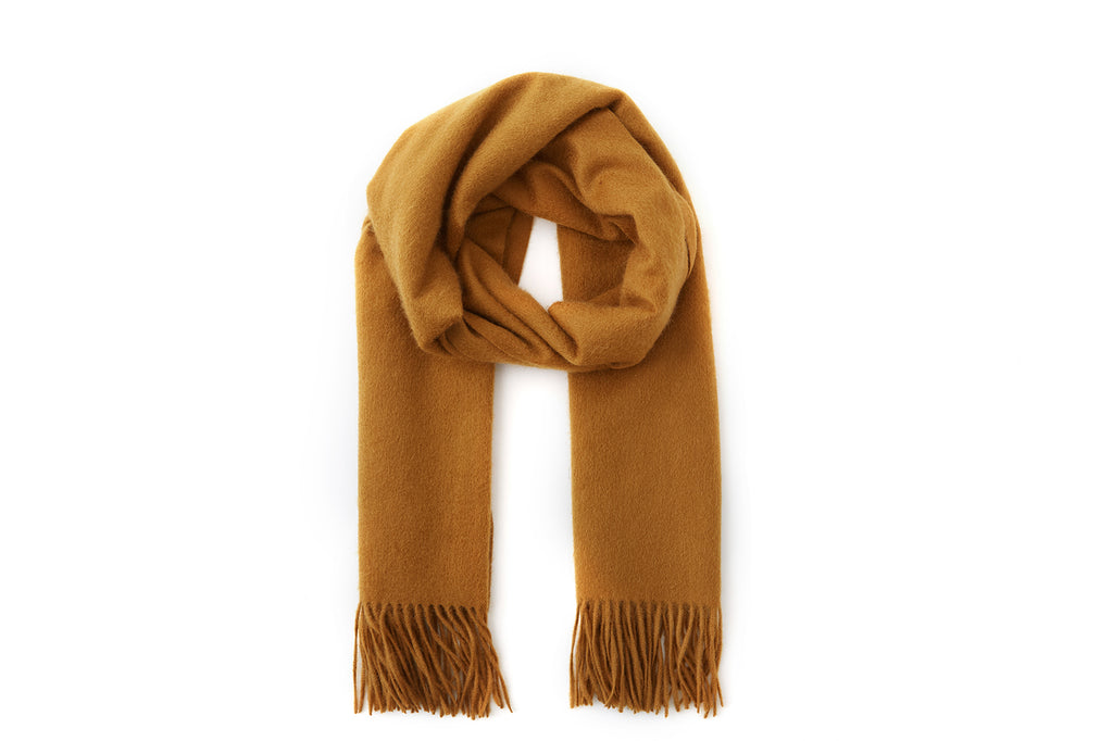Large Cashmere Scarf, Ochre