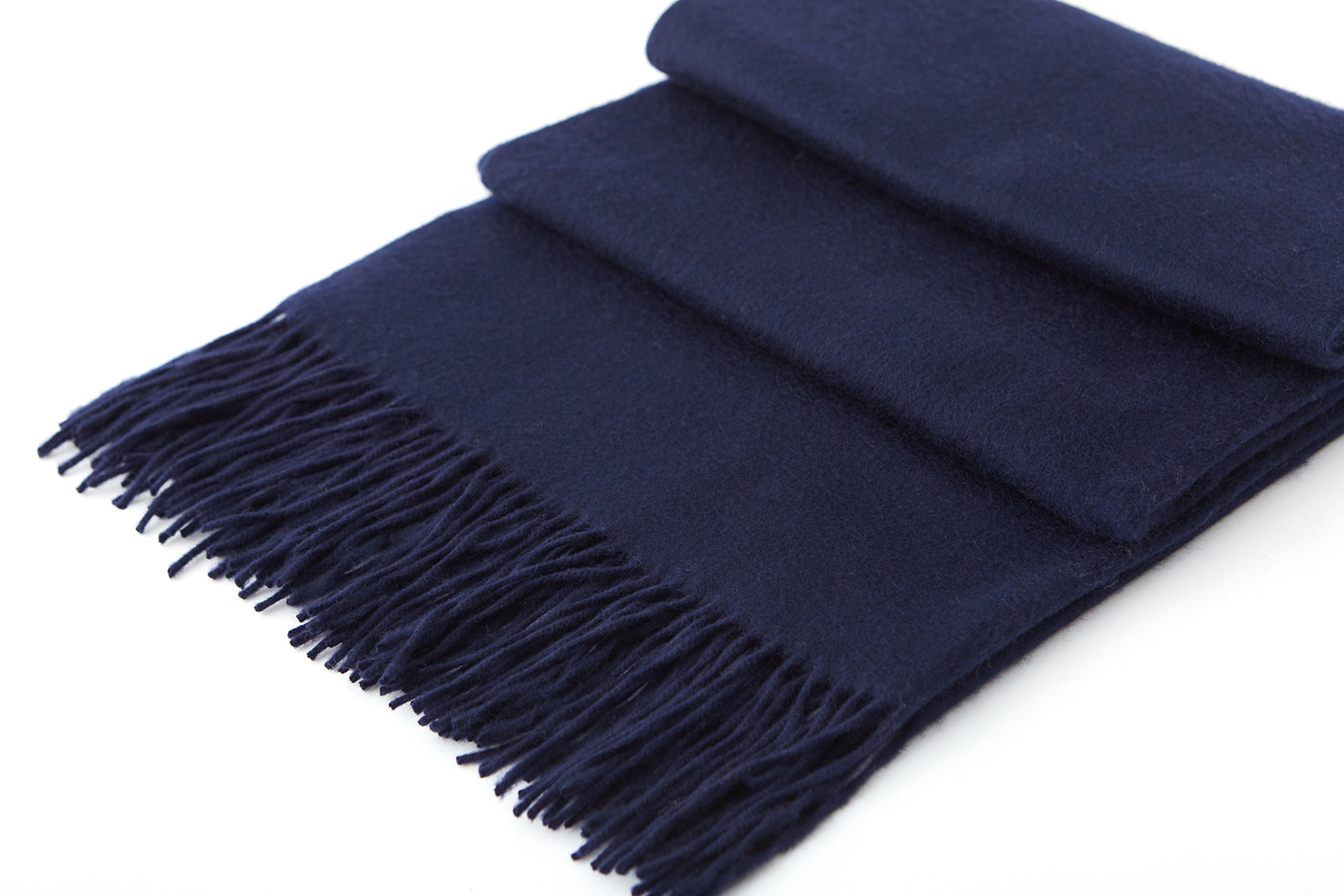 Large Cashmere Scarf, Navy