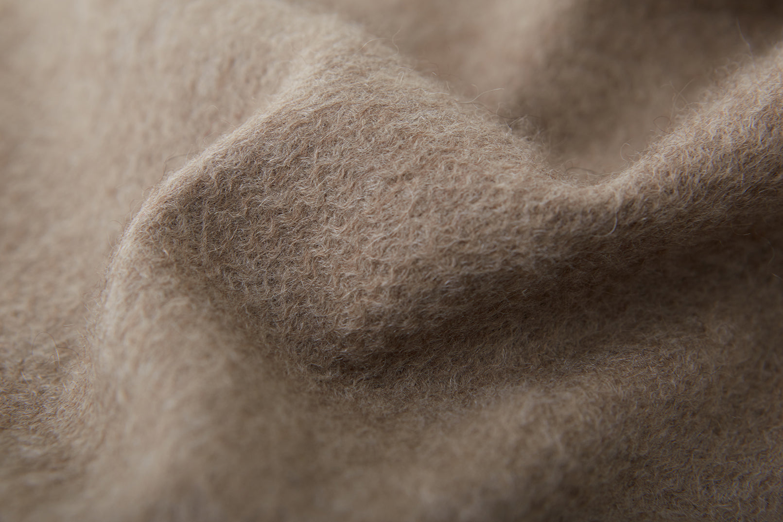 Large Cashmere Scarf, Taupe