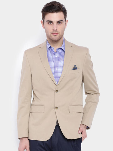 SUITLTD Beige Regular Fit Single-Breasted Formal Blazer
