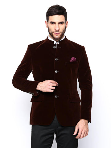 Theme Men Brown Super Slim Fitted Blazer
