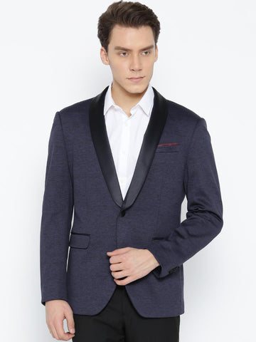 Arrow New York Navy Single-Breasted Zero Calorie Fit Party Blazer