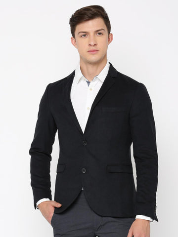 Jack & Jones Navy Single-Breasted Smart Casual Blazer