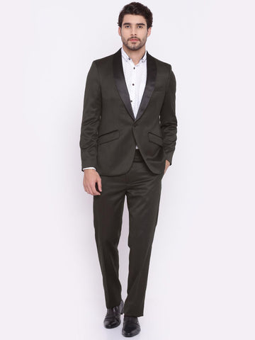 Raymond Brown Single-Breasted Contemporary Fit Formal Suit