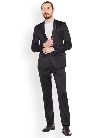 Routeen Black Single-Breasted Tuxedo Suit