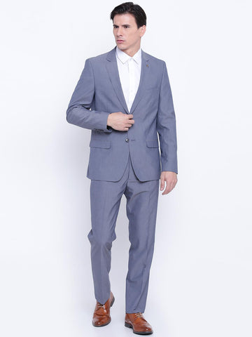 Arrow Grey Tailored Fit Single-Breasted Formal Suit