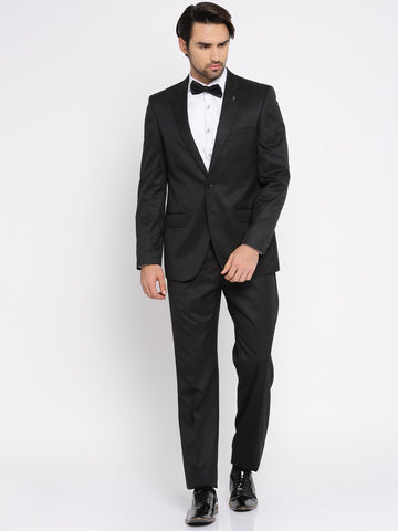 Raymond Black Single-Breasted Regular Contemporary Fit Formal Suit